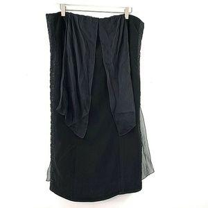 Alberta Ferretti 6 US Black Strapless Dress